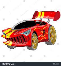 cartoon sports car cartoon red sport car isolated on stock vector 167589740