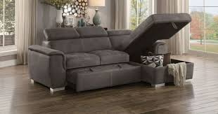 Sofa Sleeper With Chaise Homelegance Taupe Sectional Sofa With Storage 8228tp Savvy