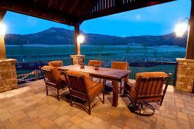 Western Style Patio Furniture Keystone Ranch Home Brasada Ranch Style Homes Rustic Patio