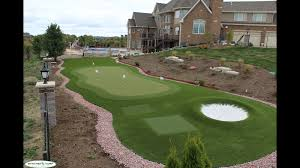 outdoor golf greens with artificial turf synthetic turf of illinois