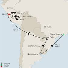 Map Of Peru South America by Central U0026 South America Tours Globus Escorted Travel