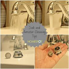 sink and faucet cleaning