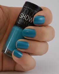 nagellack designs maybelline color show vinyl nagellack teal the deal meine