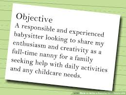 how to write a resume for a nanny job 10 steps with pictures