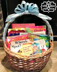book gift baskets baby shower book basket gift craft house
