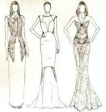 fashion design coloring pages several things to prepare when making fashion designing sketches12