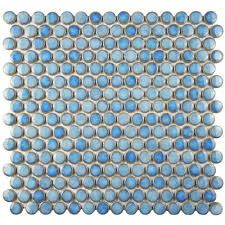 merola tile hudson penny round light blue 12 in x 12 5 8 in x 5