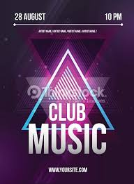 party flyer club music flyer dj lineup design vector template
