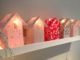 guirlande lumineuse chambre bébé guirlande lumineuse nichoir bonbon en liberty 7