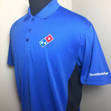 dominos pizza men u0027s large uniform performance polo shirt