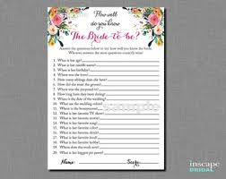 who knows the best who knows the best printable gold bridal shower