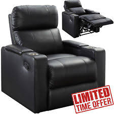 Black Leather Recliner Leather Recliner Furniture Ebay
