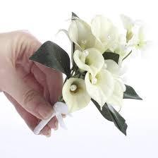 Silk Calla Lilies Premade Artificial Silk Calla Lily Corsage Picks And Stems