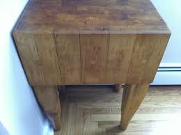 antique butcher block kitchen island vintage antique maple butcher block dovetail joints legs kitchen