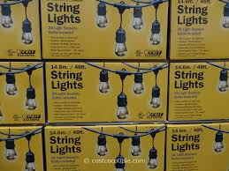Outdoor Led Patio String Lights by Outdoor String Lights Led Costco Inspirational Pixelmari Com