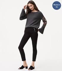 Black Skinny Jeans With Holes Women U0027s Denim U0026 Jeans Loft