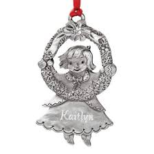 personalized pewter birthstone ornament kimball