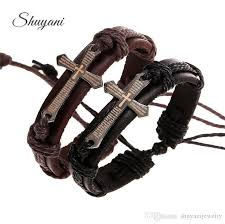 adjustable braided leather bracelet images Adjustable leather bracelets for men vintage handmade braid jpg