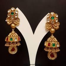 bridal jhumka earrings indian bridal kundan jhumka earrings caymancode