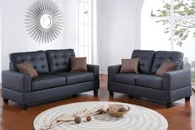 black leather sofa and loveseat set steal a sofa furniture