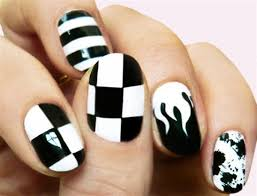 easy black and white nail polish designs how you can do it at
