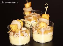 cuisiner le boudin recette boudin blanc et duo de deux pommes apéritif plats verrines