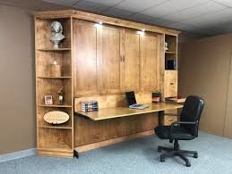 heavy front king murphy bed with desk custom by chris davis