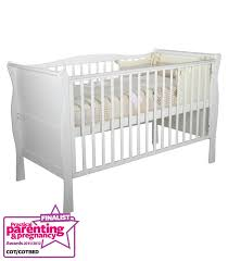 White Sleigh Cot Bed Buy Your Kiddicare Com Sleigh Cotbed White Including Pack 55