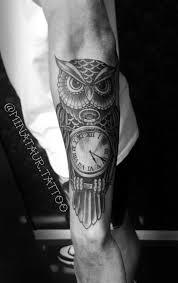 clock tattoo on hand tattoo tattoos tattooartist blackandgrey ink inked owltattoo