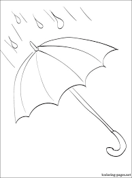 umbrella coloring coloring pages