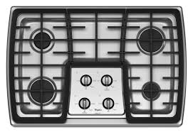 Cooktops Gas 30 Inch Gold 30 Inch Gas Cooktop With 17 000 Btu Power Burner Whirlpool