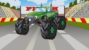 monster truck for children cartoon monster trucks racing and jumping car cartoons for children