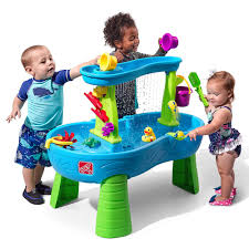 step2 busy ball play table rain showers splash pond water table blue