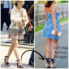 ribbon wedges pepperminting archive diy silk ribbon wedges