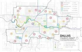 Dallas Zoning Map Park System Expansion Dallas Parks Master Plan