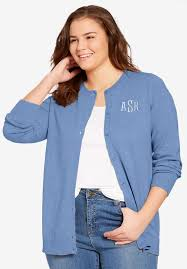 monogrammed classic cardigan sweater plus size sweaters