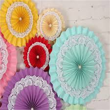 paper fans for weddings 1pcs 15cm paper fan decorative flowers birthday weddings