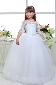 simple communion dresses aliexpress buy new lace gown flower dresses