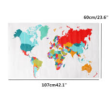 Animal World Map by Animal Map Of The World Mural Wall Murals You U0027ll Love
