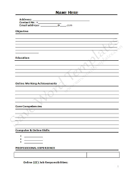 Free Resume Templates Printable Free Resume Templates To Print 81 Enchanting Free Printable