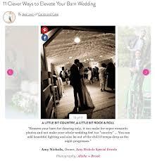 barn weddings tips feature on martha stewart weddings amy
