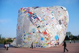 big plastic balloons big floating balloon made of plastic bags solar powered artwork