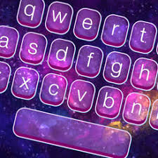 themes color keyboard galaxy keyboard skins glow ing space themes and color ful text