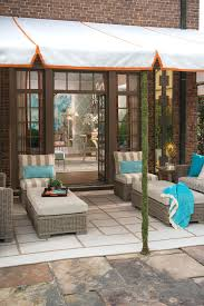 covered outdoor seating permanent awnings for patios plain design covered patio kits