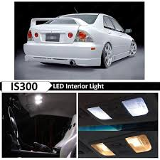 lexus is300 year changes 12x white interior led lights package kit for 2001 2005 lexus