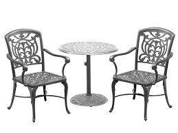 Aluminium Bistro Chairs Luxury Scheme Cast Aluminum Bistro Set Patio Furniture Of Patio