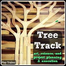 Make Wood Toy Train Track by Play Trains