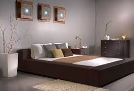 Brown Furniture Bedroom Ideas Dania Clean Modern Lines With A Split Headboard And Low Platform