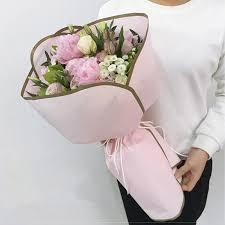 floral wrapping paper korean flower waterproof wrapping paper packaging gift wrapping