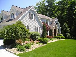 house landscaping ideas grey wall with brown roof house landscaping ideas front of white